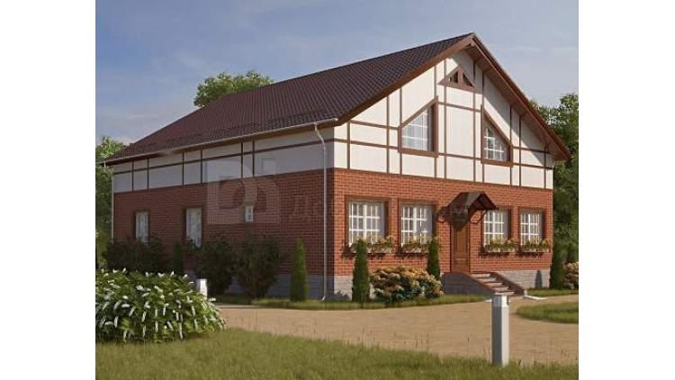 Проект каркасного дома KD-024 275.1 м², 14 м × 12 м, 2 этажа