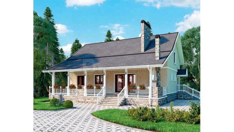 Проект каркасного дома KD-026 241.6 м², 14.7 м × 9.3 м, 1 этаж
