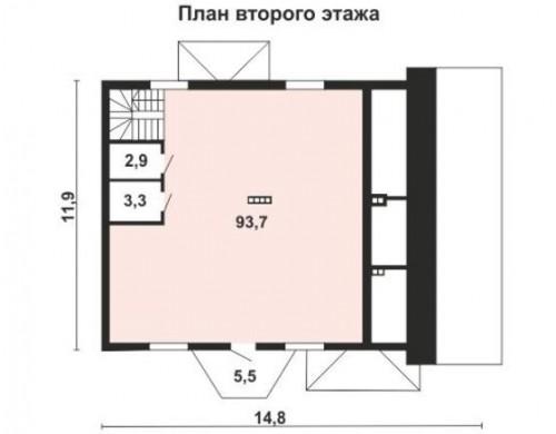 Проект каркасного дома KD-028 245.3 м², 11 м × 8 м, 2 этажа