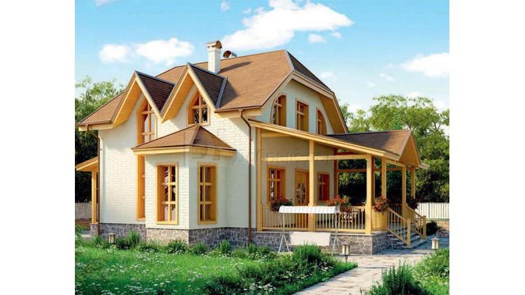 Проект каркасного дома KD-030 147.2 м², 15.7 м × 11.6 м, 2 этажа