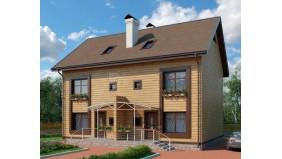 KD-031 - проект это проект дома, предназначенный для проживания двух семей