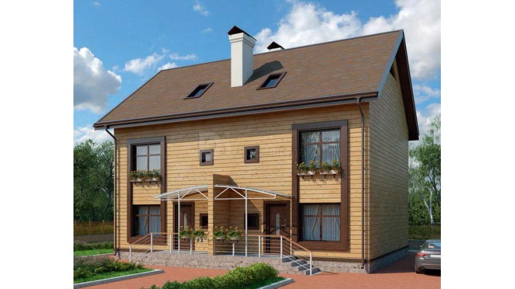 Проект каркасного дома KD-031 306 м², 12.9 м × 9.3 м, 3 этажа
