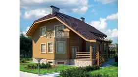 KD-032 - проект дом с цокольным этажом и мансардой
