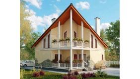 KD-034 - проект проект современного двухэтажного квадратного дома
