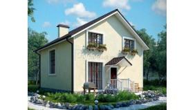 KD-035 - проект это проект компактного современного дома с мансардным этажом и панорамными окнами
