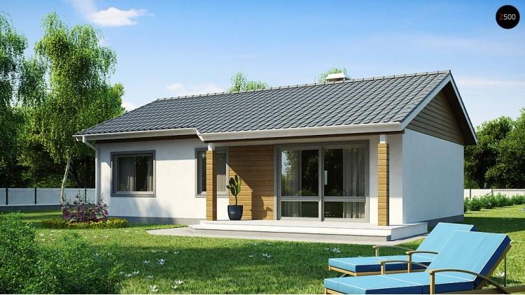 Проект дома PB-003 12.18x8.28m 82,0 м² , 1 этаж