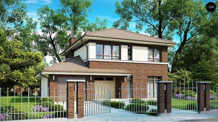 Проект дома PB-004 12.48x11.58m 137,0 / 162,5 м² , 2 этажа