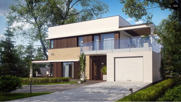 Проект дома PB-005 13.44x8.94m 105,4 / 125,8 м² , 2 этажа