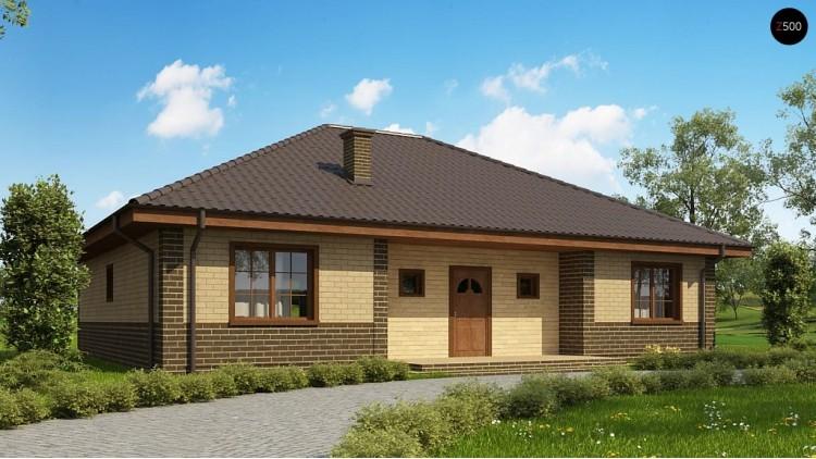 Проект дома PB-011 15.48x11.78m 134,1 м² , 1 этаж